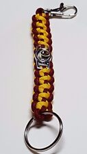 Washington Redskins Burgundy & Gold Paracord Deluxe Key Chain with lobster clasp