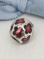 Authentic Pandora Ruby Pink Enamel Baby Butterflies Charm 790438EN07 Butterfly