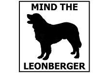 Mind the Leonberger - Gate/Door Ceramic Tile Sign