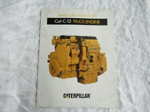 1996 CAT Caterpillar C-12 truck engine brochure