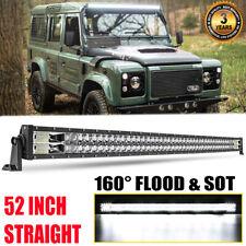 "52"" 900W LED Light Bar High Intensity Flood Spot LAND ROVER DEFENDER 90 110 130"