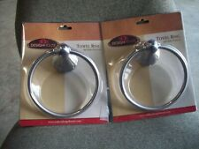 Lot of 2: Design House 532978 Allante Collection Towel Rings ~ Polished Chrome