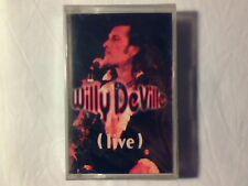 WILLY DeVILLE Live mc cassette k7 RARISSIMA SIGILLATA VERY RARE SEALED!!!