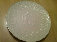 "Lenox Wedding Promises Marriage Embossed Round Plate/Platter 12.5"" w/Gold Trim"