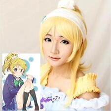 Japan Anime Love Live! Ayase Eli Ponytail Blonde Cosplay Wig &686