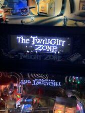 Twilight Zone Pinball Machine Black And White Color Dmd