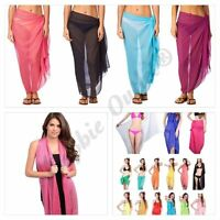 New Ladies Shawl Scarf  Viscose Plain Hijab Rayon Sarong Wrap Bikini Beach Dress