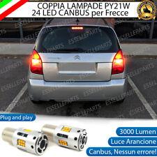 COPPIA LAMPADE PY21W CANBUS 35 LED CITROEN C2 FRECCE POSTERIORI NO ERROR