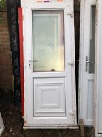 White uPVC Pvcu double glazed Front door  850mm by 2070mm