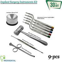 Implante Quirúrgico Cirugía Utensilio Kit Osteotomo en Ángulo, Mead Martillo Ce