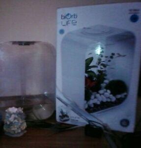 BiOrb Life15 Aquarium Fish Tank LED Light Filter Clear 15L Oase air pump