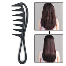 Shark Plastic Comb Hairdressing Detangling Salon Styling Tool Wide Tooth Comb