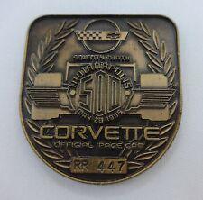 1995 Indianapolis 500 RR 447 Bronze Pit Badge Corvette J. Villenueve Team Green