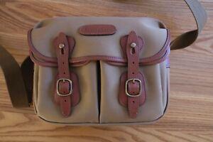 Billingham Hadley Small Camera Bag.  Khaki Canvas, Tan Leather