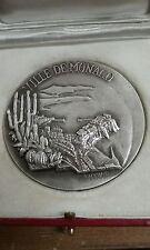 Superbe MEDAILLE en argent VILLE de MONACO 1968 signé TSCHUDIN 187gr  B23