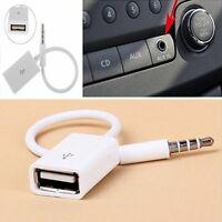 AUX Audio Plug Jack To USB 2.0 Female Converter Cord Cable For Car MP3 Player CA