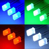 100pcs 2*5*7mm Rectangular Square LED Diodes White/Green/Red/Blueh 3C