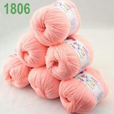 C 6Skeinsx50gr New Soft Baby Cashmere Wool Silk Children Hand Knitting Yarn 06