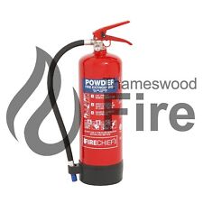 4kg Dry Powder ABC Fire Extinguisher - CE Marked - Fire Chief - Fast Delivery