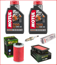 KIT/Tagliando KTM 125 Duke 2017 al 2021 Motul 7100 10w40 Filtri hif Candela ngk