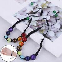 7 Chakra Healing Balance Beaded Bracelet Lava Yoga Pietre di preghiera Reik ND