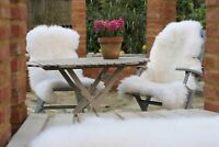 Sheepskin fur rug pelt skin leather hide 100%Natural fur made from British Sheep