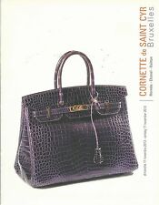 CORNETTE CYR HERMES CHANEL VUITTON HANDBAGS JEWELRY HAUTE COUTURE Catalog 2013