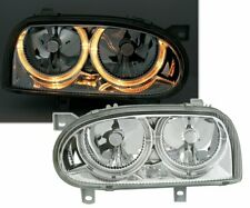 OFFER Headlights VW GOLF 3 III 91-97 Angel Eyes Chrome DEPO IT LPVW01EM XINO IT