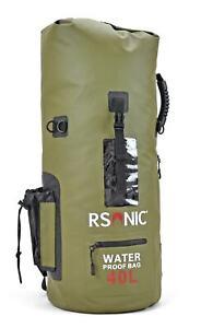 RSonic wasserdichter Rucksack Seesack Packsack Dry Bag Wanderrucksack 40L grün