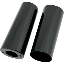 """Drag Specialties Black +2"""" Smooth Fork Slider Covers Boots for Harley"""