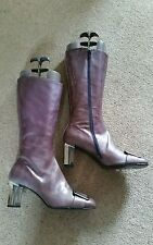 Women's Block Mid Heel (1.5-3 in.) Patent Leather Zip Shoes