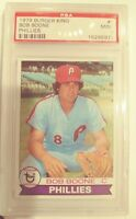 1979 BURGER KING  #2  PHILLIES  BOB BOONE  PSA 9 MINT