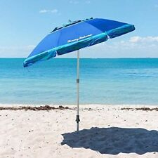 NEW Tommy Bahama Sand Anchor 7 ft Beach Umbrella Tilt Outdoor Sun Cover Shade