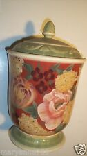 Pamela Gladding Certified International Floral Tapestry Sugar Coffee Canister