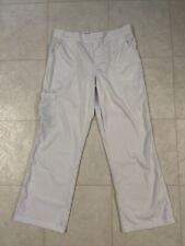 Urbane Ultimates White Women's Scrub Pants Sz Small Petite