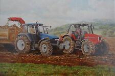 "New Holland TM Series & Same Iron Series Blank Greeting Card ""Potato Harvest"""