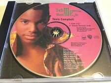 TEVIN CAMPBELL TELL ME WHAT YOU WANT ME TO DO 2 TRACK PROMO CD FREE SHIPPING