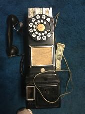 Vintage Western Bell System Dial Metal Pay Phone Antique Rare