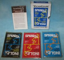 VocabuLearn Spanish - English 1986 Level l II and lll CASSETTES Vocal Vocabulary