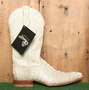 PREMIER WESTERN WEAR Ivory Caiman Crocodile Leather Cowboy Boots MEX 25 | US 6