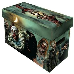 Comic Book Cardboard Storage Box with Zombies Artwork, holds 150-175 Comics