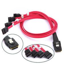 Mini SAS to 4-SATA SFF-8087 Multi-Lane Forward Breakout Internal Kable 19 Inch