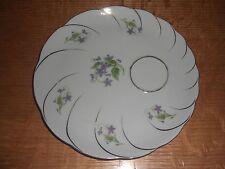 """8"""" Fine Porcelain Plate - Violets with Gold Leaf Edge"""