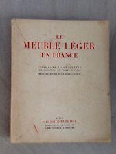 Le meuble léger en France / 324 photos de Pierre DEVINOY /1952
