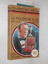 LA POLTRONA N 30 Ellery Queen Mondadori I classici del giallo serie oro 225 1975