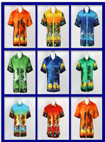 New LARGE SIZE Men Aloha Shirt Cruise Tropical Luau Beach Hawaiian Party Summer