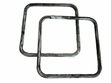 "Pair of 8"" Black Marble Square Plastic Macrame Craft Handbag Purse Handles"