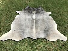 Cowhide Rug Gray Black Natural Hair on Cow Hide Skin Area Rugs 5 x 6 ft Large