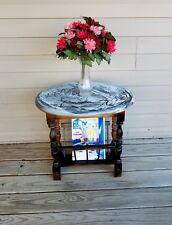 Vintage End Table/Magazine Rack/Painted Side Table/Nightstand