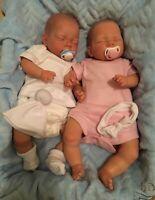 Twins Hanna and Harry NEWBORN BABY Child friendly REBORN doll cute Babies